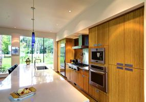 Custom kitchen with Gas stove, built in Cappuccino machine, Pot Filler, Grohe faucet with instant hot water dispenser
