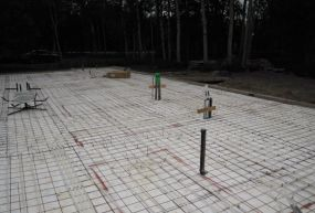 Piping for Radiant Heating at 6 inch centers for new house